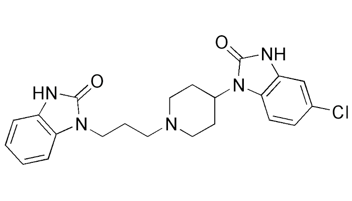 Химическая формула домперидона - действующего вещества препарата Мотилиум