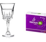 Нексиум и алкоголь: совместимость лекарства и спиртных напитков