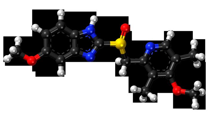 Химическая формула эзомепразола - действующего вещества препарата Нексиум