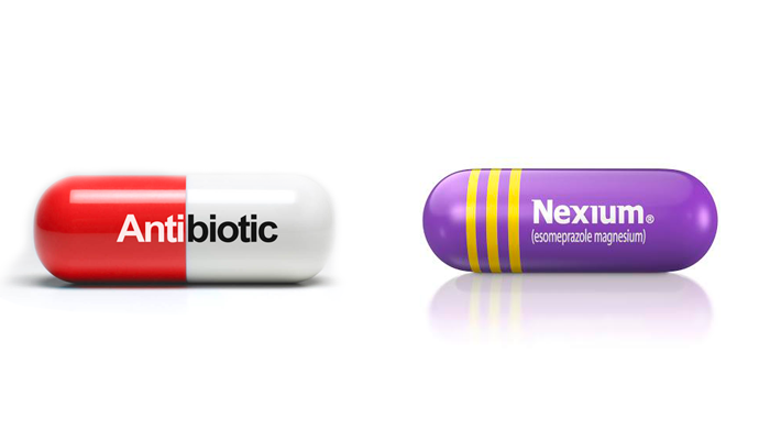 Применение препарата Нексиум вместе с антибиотиками