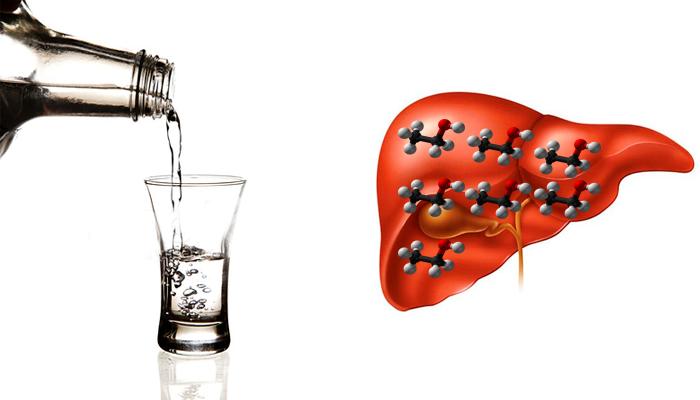 Интоксикация печени из-за употребления спиртного