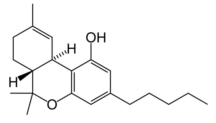 Химическая формула действующего вещества чарраса - тетрагидроканнабинол